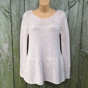 Guinevere Blush Wool Blend Chunky Knit Sweater